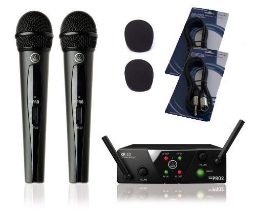 AKG WMS 40 MINI 2 Dual Vocal Set - zestaw bezprzewodowy+akcesoria