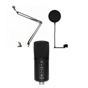 Stagg SUSM60D -  mikrofon pojemnościowy USB + statyw + pop filtr