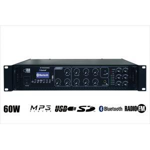 RH SOUND ST-2060BC/MP3+FM+BT + 2x BS-1050TS/W - Zestaw Nagłośnienia naściennego