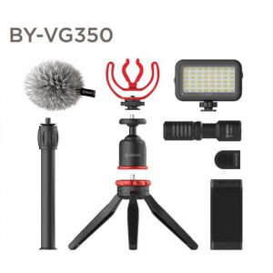 BOYA BY-VG350 - zestaw wideo do smartfonów z lampą led