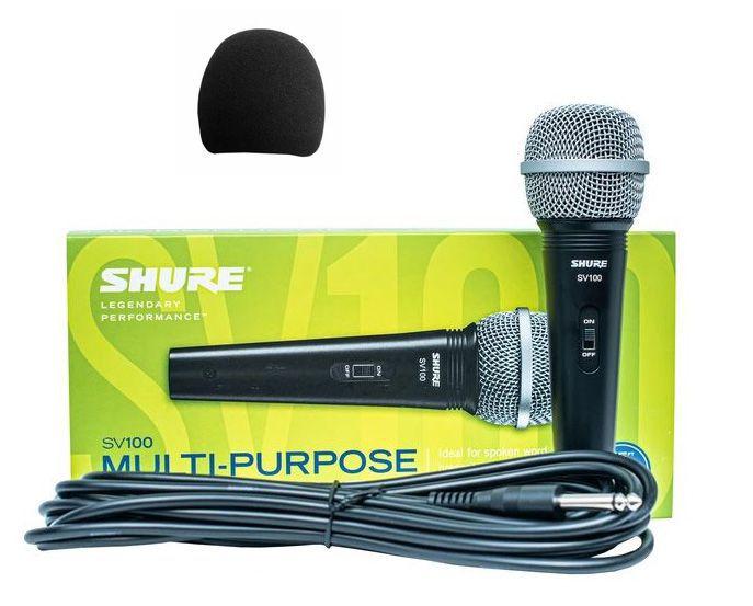 Shure SV 100 - mikrofon dynamiczny + wiatrochron