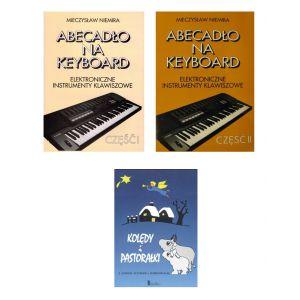 Zestaw książek na keyboard i gitarę nauka gry, kolędy