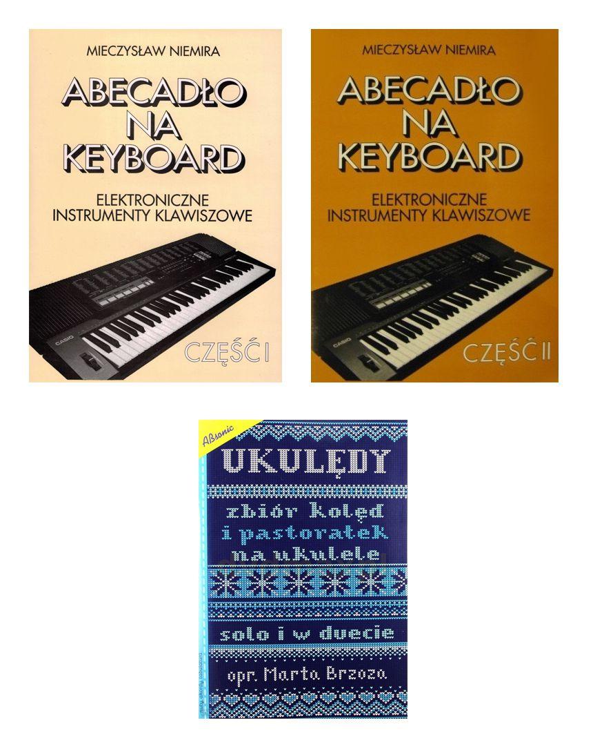 Zestaw książek na keyboard i ukulele nauka gry, kolędy