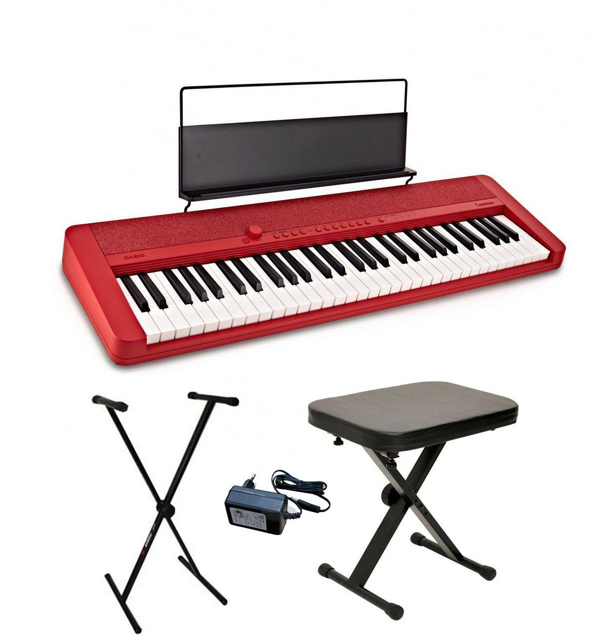 Casio CT-S1 RD - keyboard + ława + pulpit