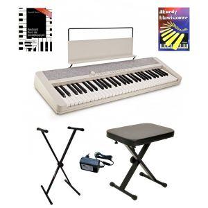 Casio CT-S1 WE - keyboard + ława + pulpit + kurs cd + książeczka