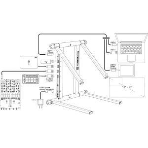 Reloop Stand HUB - statyw na laptopa i koncentrator USB z portem zasilania