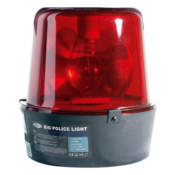 Showtec Large Police Light, czerwony, żarówka 75W