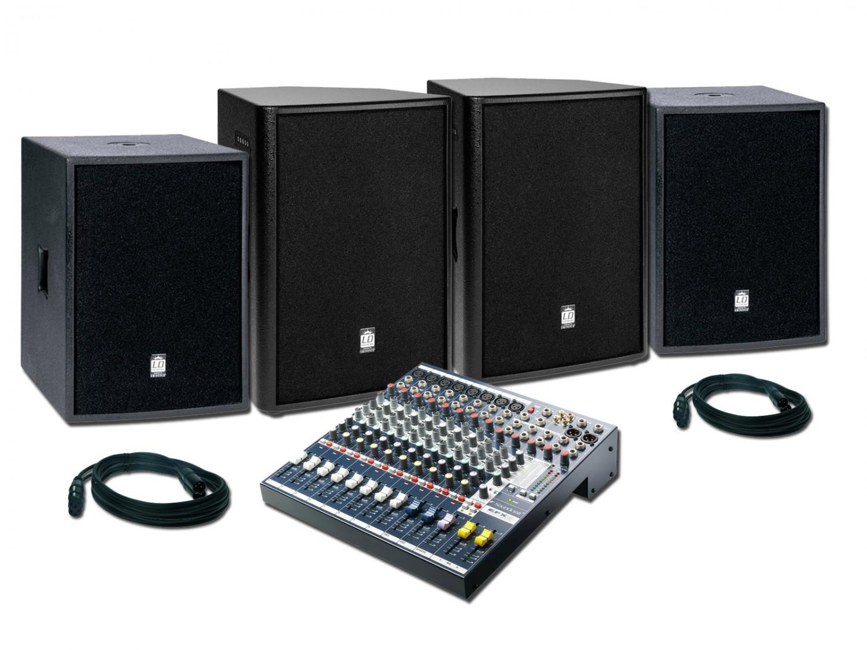 Lighting Center Zestaw 6 - zestaw nagłośnieniowy 2x900W