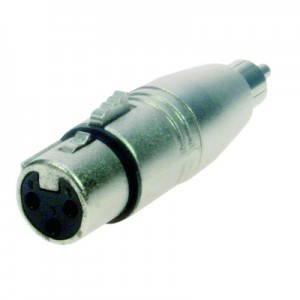 Reloop Adaptor XLR F / RCA M - przelotka