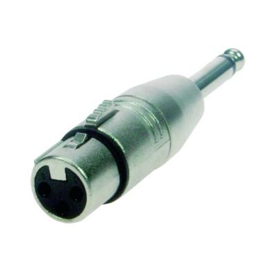 Reloop Adaptor XLR F / Mono 6.3 mm Jack M - przelotka