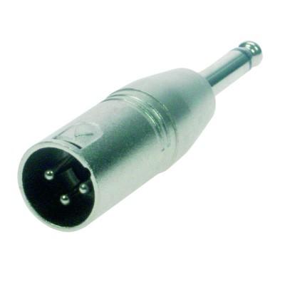 Reloop Adaptor XLR M / Mono 6.3 mm Jack M - przelotka