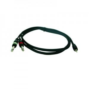 Reloop Stereo 3.5 mm Jack M / 2x Mono 6.3 mm Jack M 3.0 m - przewód
