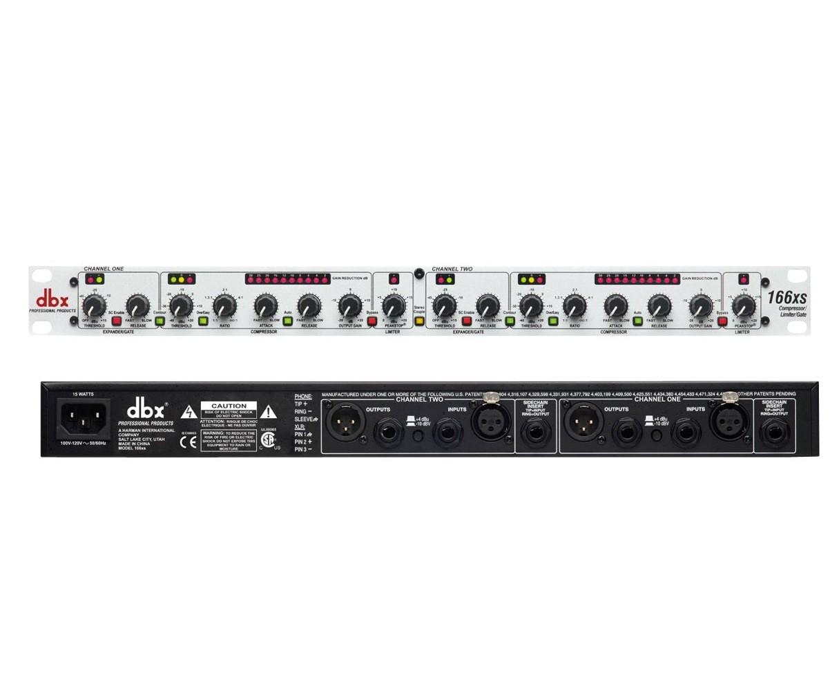 dbx 166XS - kompresor/limiter/bramka szumów