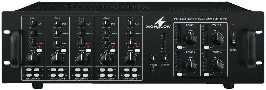 Monacor PA-12040 - wzmacniacz wielostrefowy