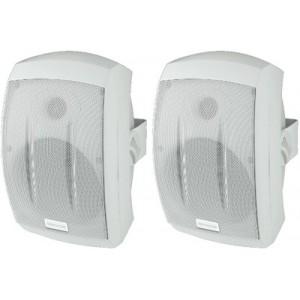 Monacor MKS-232/WS - zestaw głośnikowy naścienny (para)