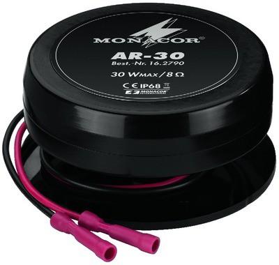 Monacor AR-30 - wzbudniki audio odporne na warunki atmosferyczne