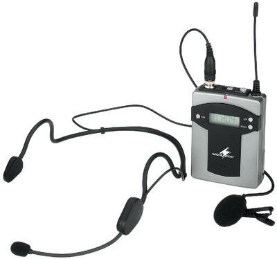 Monacor TXA-800HSE - wielozakresowy nadajnik kieszonkowy z mikrofonami