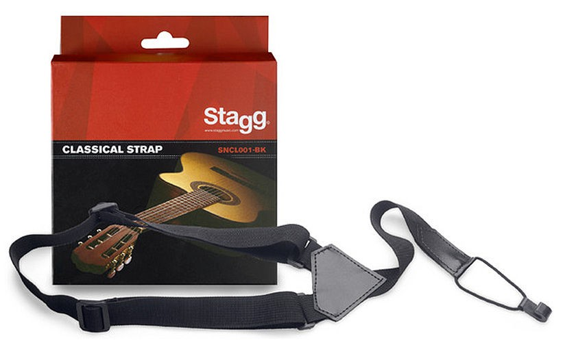 Stagg SNCL001-BK - regulowany pasek do gitary/uke