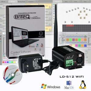 Chromateq Briteq LD-512 WIFI - sterownik DMX  ( WDMX )Briteq na oprogramowaniu Chromateq
