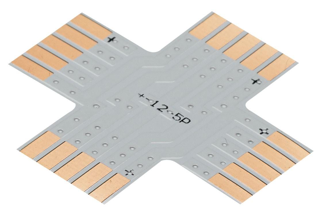 CONTEST XCO-5 - Złącze RGBW ribbon typu X - 12 mm