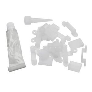 CONTEST TAPEFIX68 - Zestaw 15 siodełek, 5 kapsli, 1 zestaw do rur silikonowych
