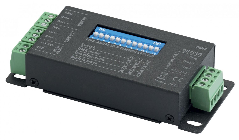 CONTEST TAPEDRIVER-3 - Sterownik DMX - 3 kanały - 12-24VDC - 3 x 2A maks