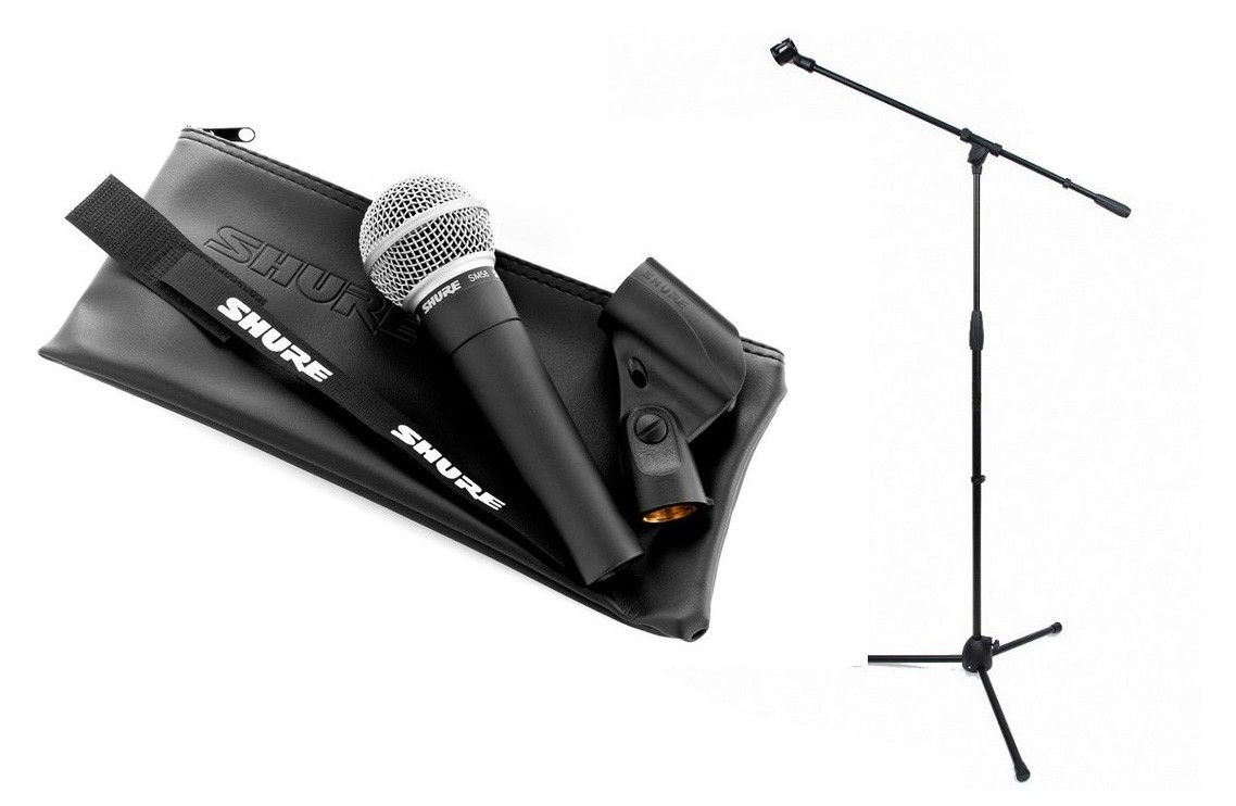 Shure SM 58 LCE - mikrofon dynamiczny + statyw - Lighting Center c0553a9407