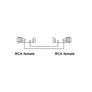 Reloop Adaptor RCA F / RCA F - adaptor