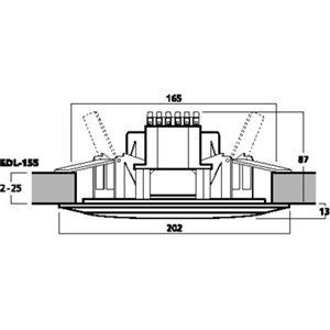Monacor EDL-155 - głośnik sufitowy
