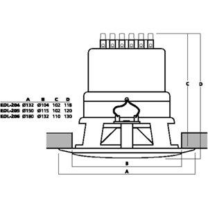 Monacor EDL-206 - głośnik sufitowy