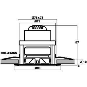 Monacor EDL-22/WS - głośnik sufitowy