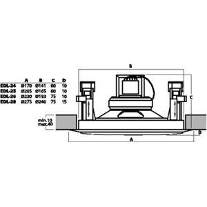 Monacor EDL-26 - głośnik sufitowy