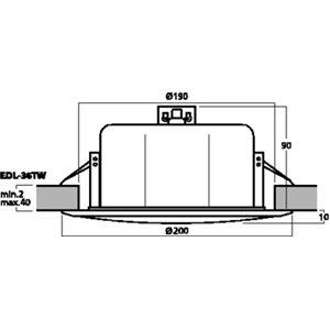 Monacor EDL-36TW - głośnik sufitowy