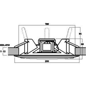 Monacor EDL-612 - głośnik sufitowy
