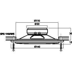 Monacor SPE-140/WS - pełnopasmowy głośnik do montażu wpustowego