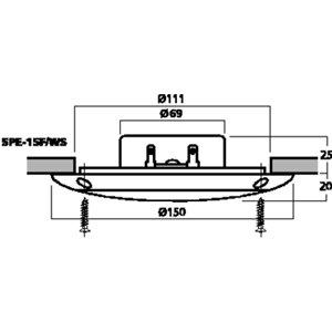Monacor SPE-15F/WS - wodoodporne głośniki do montażu wpustowego (para)