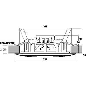 Monacor SPE-254/WS  - wodoodporne głośniki sufitowe (para)