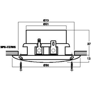 Monacor SPE-72/WS - głośnik sufitowy