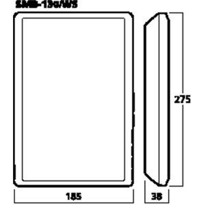 Monacor SMB-130/WS - zestaw głośnikowy naścienny (para)
