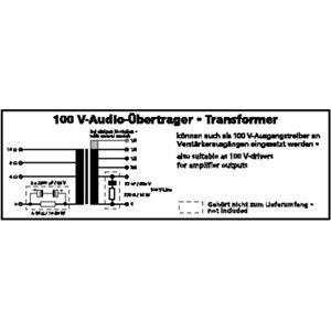 Monacor TR-175/6 - trasformator 100V audio
