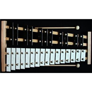 MATMAX Dzwonki chromatyczne 27 tonowe cymbałki