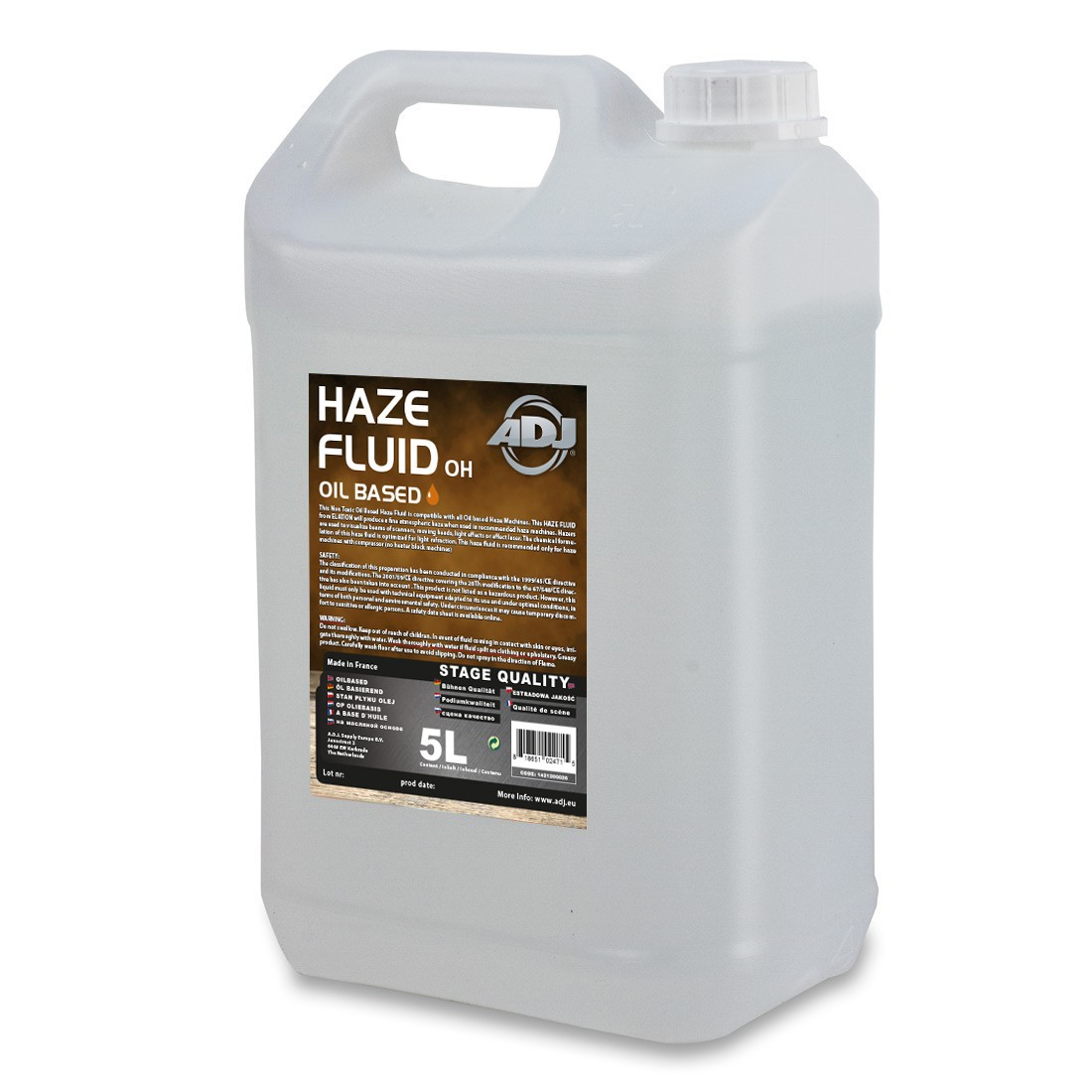American DJ ADJ Haze Fluid oil based 5l - płyn do wytwornicy  mgły