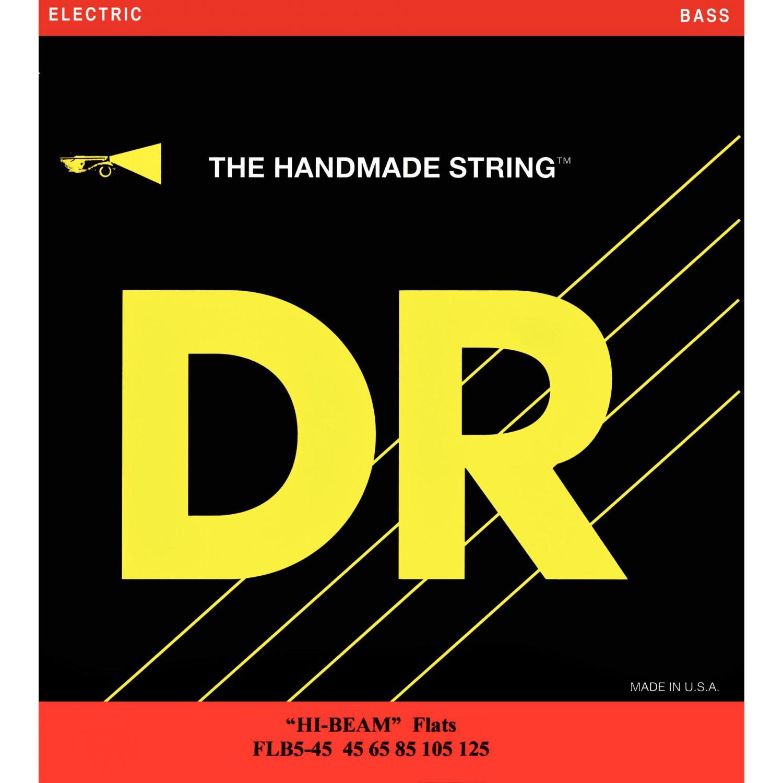 DR FLB5-45 - HI-BEAM Flats - struny do gitary basowej, 5-String, Heavy, .045-.125