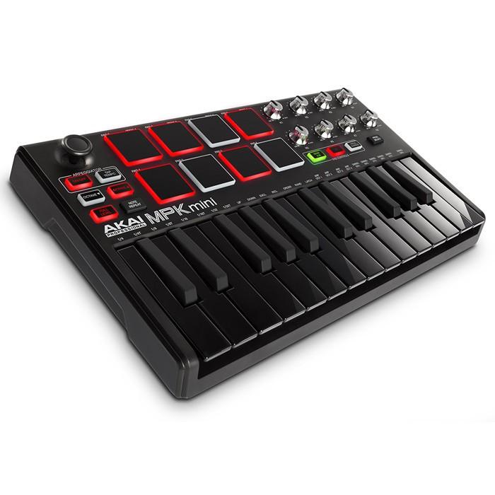 Akai MPK MINI MKII LE BLACK - kontroler MIDI / klawiatura sterująca (wersja limitowana)