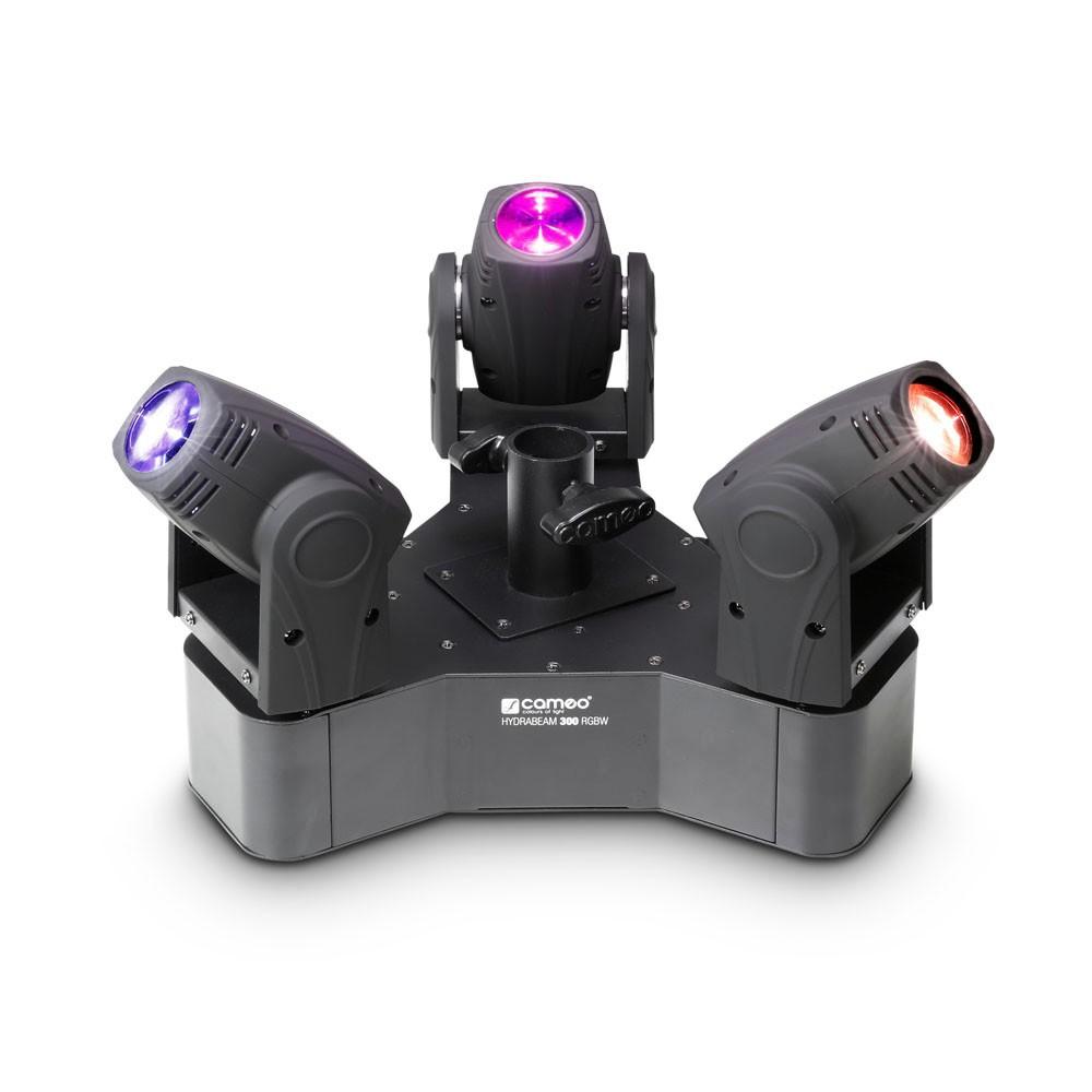 Cameo Hydrabeam 300 Rgbw Instalacja Oświetleniowa Wyposażona W 3 Ultraszybkie Lampy Par Moving Head Cree Rgbw Quad Led 10 W