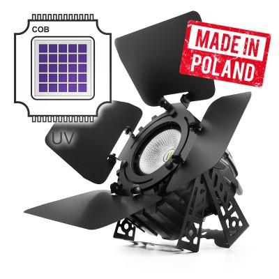 Flash Professional - LED PAR 64 300W UV COB + BARNDOOR mk2 - Reflektor typu Par