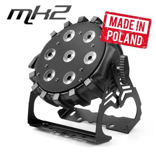 Flash Professional - LED PAR 64 SLIM 7x10W RGBW Mk2 LH - Reflektor typu Par